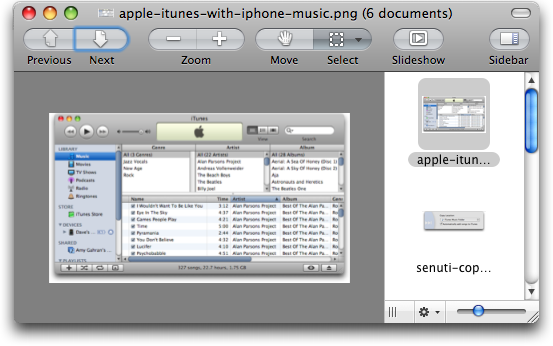 mac os preview next image