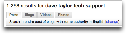 Technorati search for Dave Taylor Tech Support: Tabs