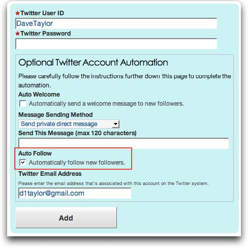 tweetlater config