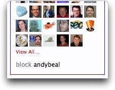 twitter block menu