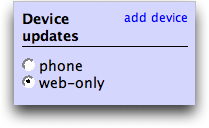 Twitter: Device Updates: web only or mobile cell phone?