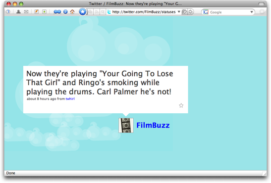 twitter tweet page filmbuzz