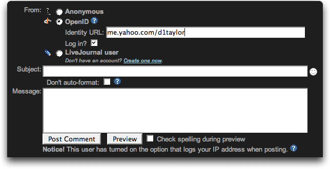 yahoo openid livejournal