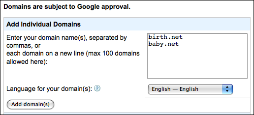 google adsense for domains add