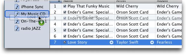 itunes add to playlist