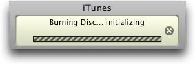 itunes burn disc initializing