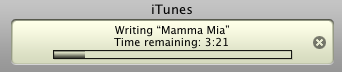 itunes burning disc writing