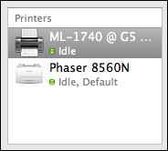 mac print fax new printer added