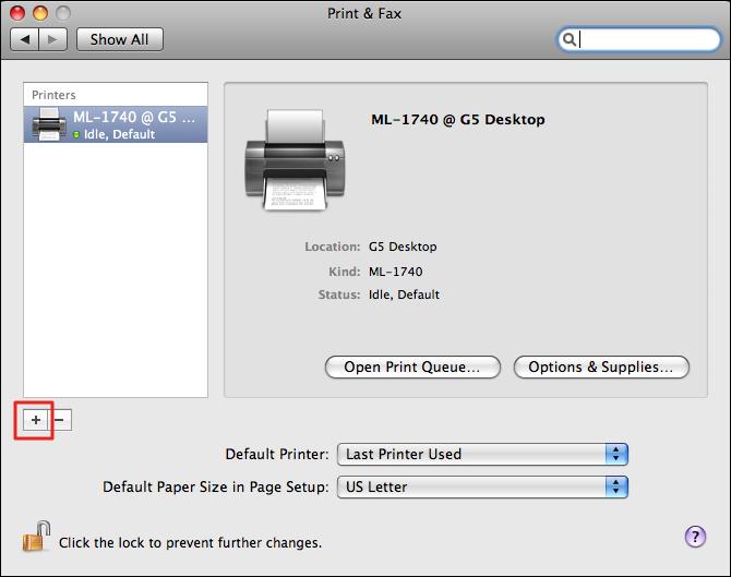 mac print fax preference