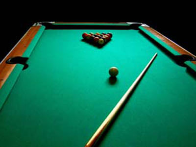 Common pool or billiards table