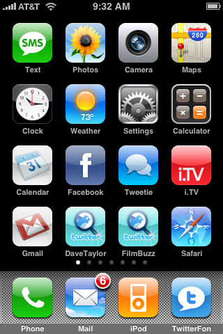 How do I rearrange the app icons on my Apple iPhone? - Ask Dave Taylor