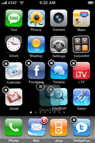 apple iphone rearranging icons 3