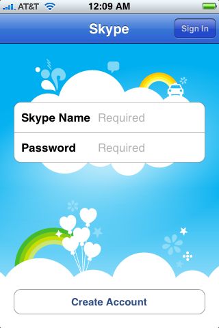 apple iphone skype app 3