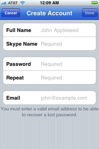 apple iphone skype app 5