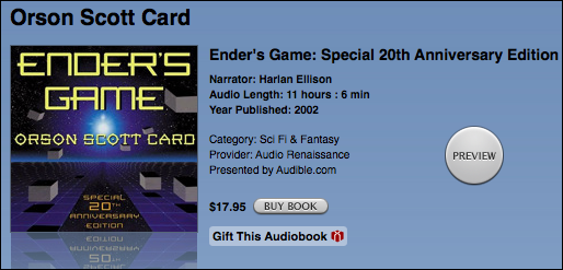 apple itunes store buy enders game