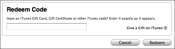 apple itunes store redeem code