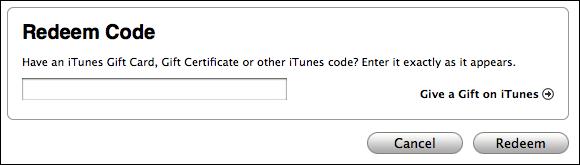 apple itunes store redeem code