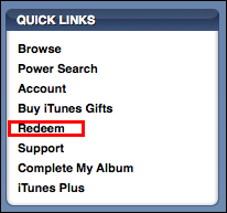 apple itunes store redeem