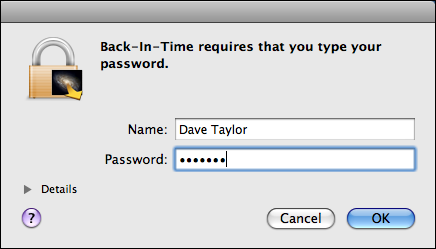back in time password