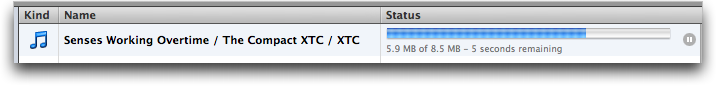 downloading xtc senses working overtime