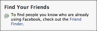 facebook friend finder
