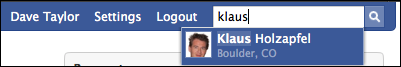 facebook name search klaus