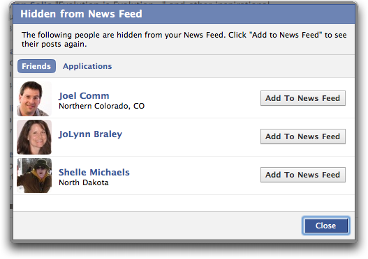 Fun With Friends Status : ... status updates, or, if you click on ?Edit Options? to see who you