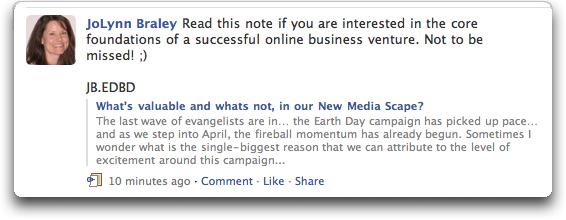 facebook status update 1