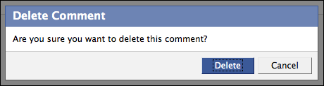 how to delete all comments on facebook
