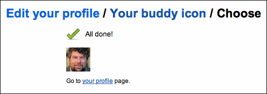 flickr profile buddy icon done