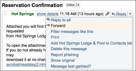 Forward Button in Gmail Gmail Msg Head Forward