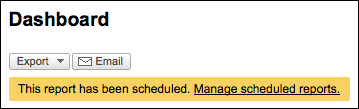 google analytics email scheduled confirm (website stats)