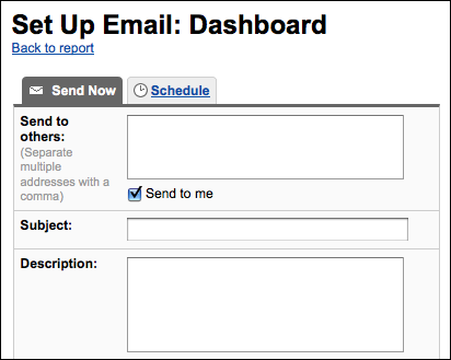 google analytics email send now (website stats)