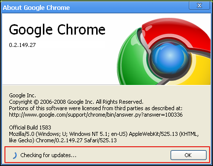 How do i update google chrome ask dave taylor google chrome about checking ccuart Choice Image