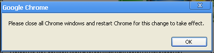 google chrome restart