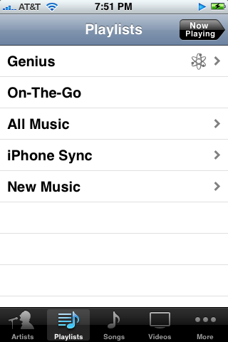 iphone ipod genius on playlist screen (free apple iphone help)