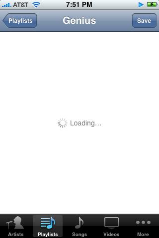 iphone ipod loading genius playlist (free apple iphone help)