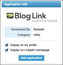 linkedin add bloglink