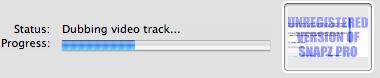 mac capture video dubbing audio track