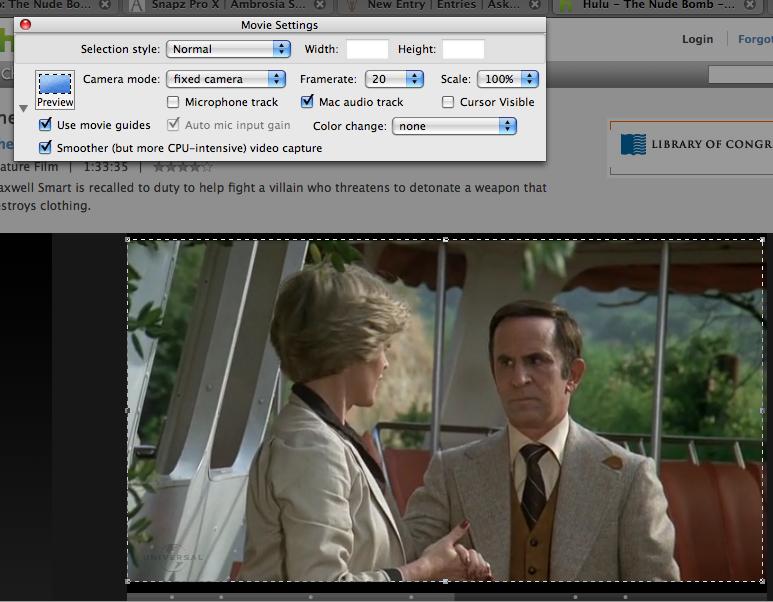 mac capturing streaming live video setup