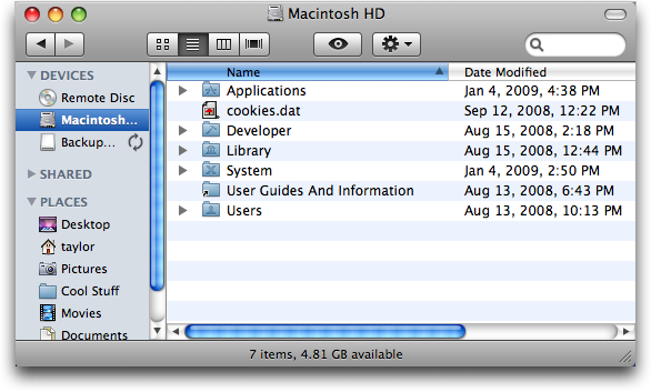 How do i restore my applications shortcut in mac finder ask dave