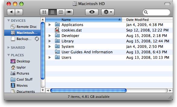 mac finder no applications