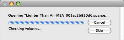 mac mounting time capsule checking