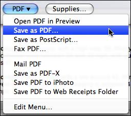 mac safari file print dialog pdf