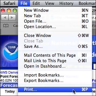 mac safari file print