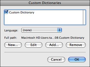 microsoft word mac custom dictionary list