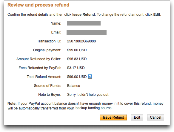 paypal refund transaction 5