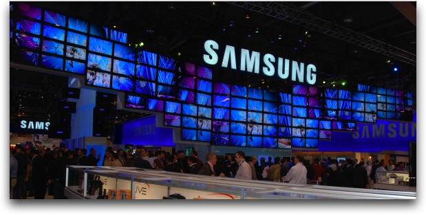 samsung wall of tvs