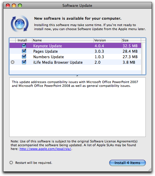 What Is The Software Update For Mac