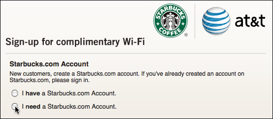 starbucks att get wifi account 3